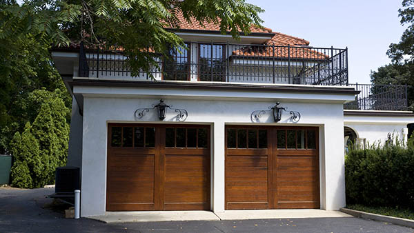 garage with roof deck