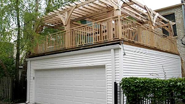 deck over garage