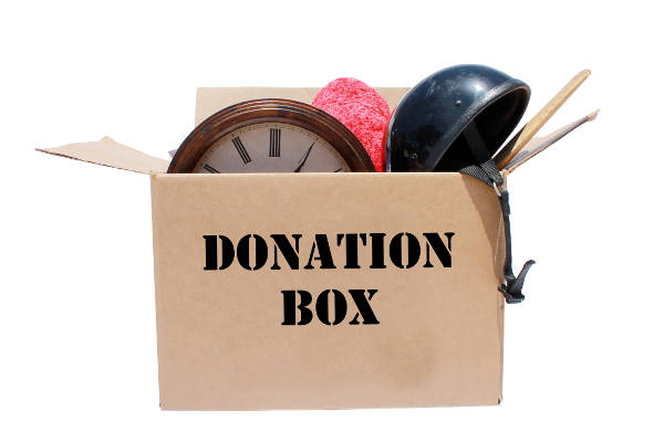 a box of items to be donated
