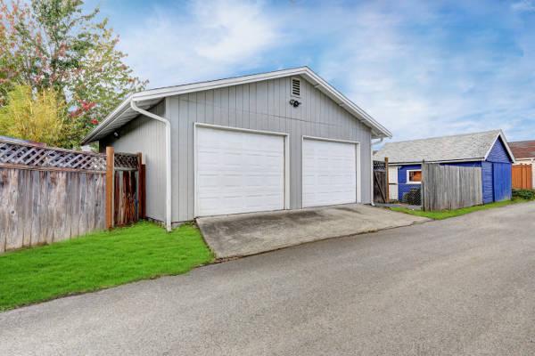 beautiful new garage
